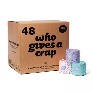 Who Gives a Crap Toilet Paper 48 roll box