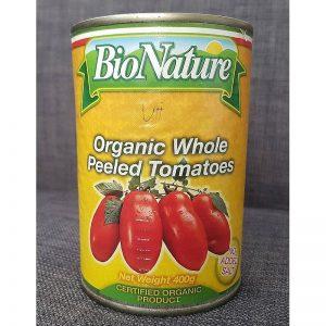 Organic peeled tomato